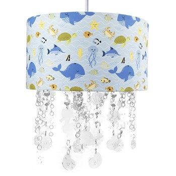 Lustre Tubular Cristais Fundo do Mar