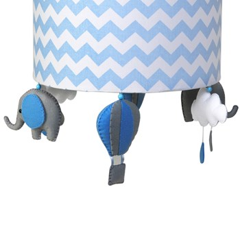 Lustre Tubular Elefante Azul