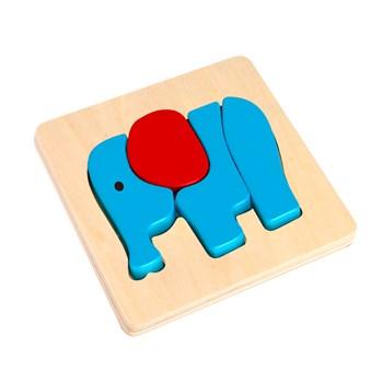 Mini Quebra-Cabeça de Encaixe – Elefante
