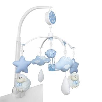 Móbile Musical Carneiro, Nuvens e Balão Azul