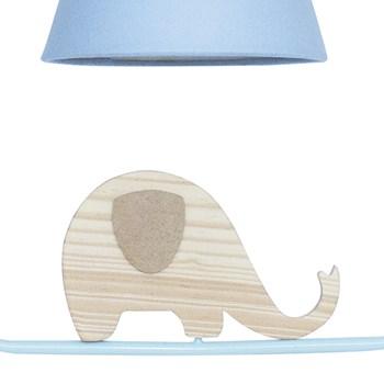 Pendente Geométrico Retângulo Elefante Azul