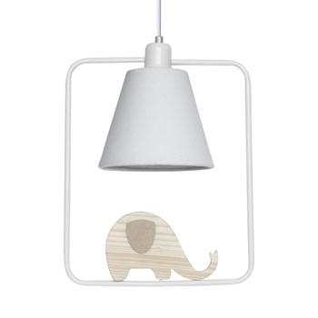 Pendente Geométrico Retângulo Elefante Branco