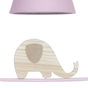 Pendente Geométrico Retângulo Elefante Rosa