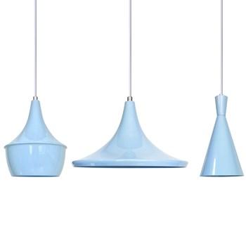 Pendentes Vintage Trio Azul