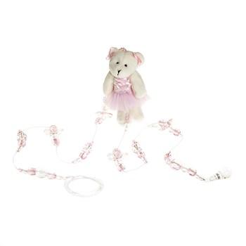 Pingente De Cortina Ursa Bailarina Rosa (Unidade)
