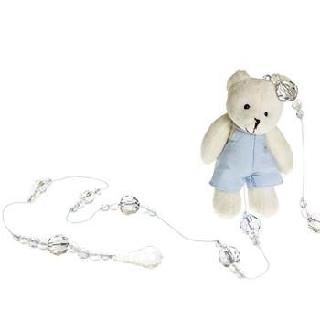 Pingente De Cortina Urso Com Roupa Azul (Unidade)