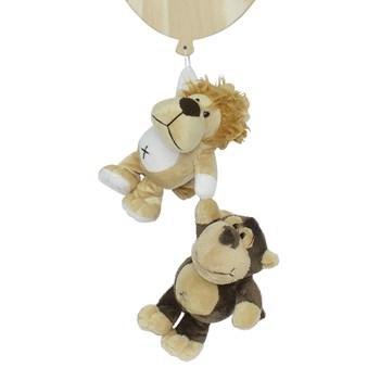 Porta Maternidade Bexiga Floresta com Leão e Macaco