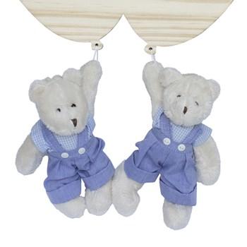 Porta Maternidade Bexigas com Ursinhos Gêmeos