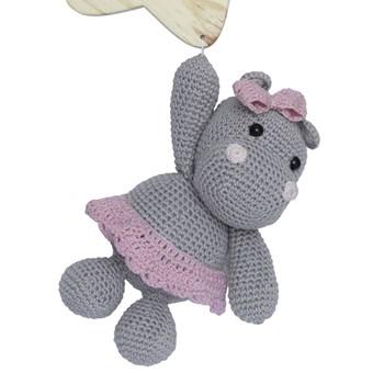 Porta Maternidade Estrela com Hipopótama de Laço