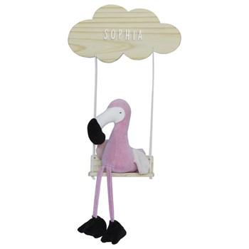 Porta Maternidade Nuvem Balança com Flamingo