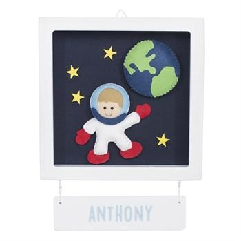 Porta Maternidade Quadro Acrílico Astronauta