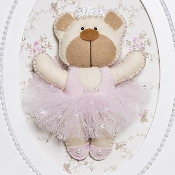 Quadrinho Balé Pérolas Ursa Bailarina