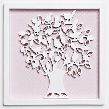 Quadro Árvore Da Vida Com Pérolas
