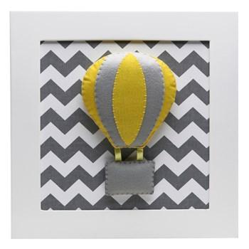 Quadro Decorativo Balão Chevron Cinza