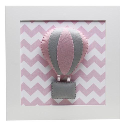 Quadro Decorativo Balão Chevron Rosa