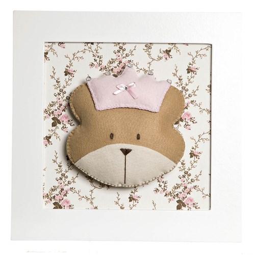 Quadro Decorativo Cara De Ursa Princesa