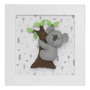 Quadro Decorativo Coala Na Árvore