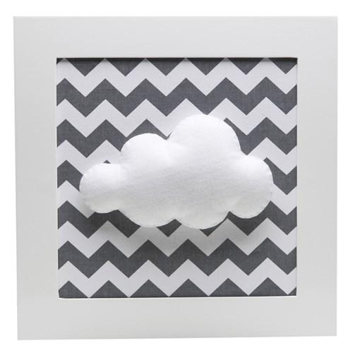 Quadro Decorativo Nuvem Chevron Cinza