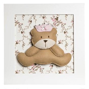 Quadro Decorativo Ursa Princesa