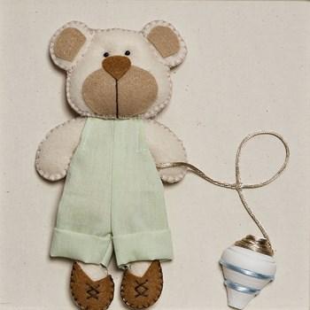Quadro Decorativo Ursinho Com Pião
