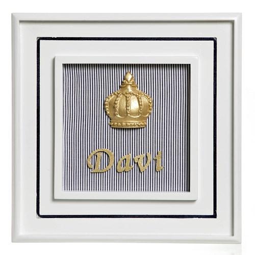 Quadro Príncipe Corôa Dourada Com Nome