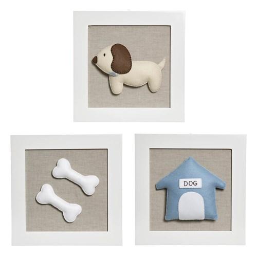 Trio De Quadros Cachorro
