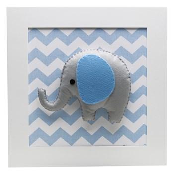 Trio De Quadros Elefante Balão Azul