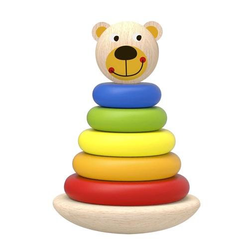 Urso Torre de Blocos de Montar
